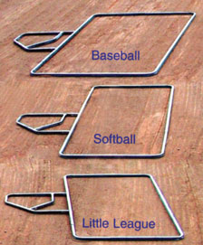 Adjustable Batters Box Template T02500 (D8) - Mar-Co Clay
